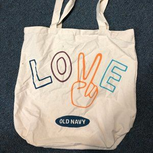 Old Navy LOVE canvas bag